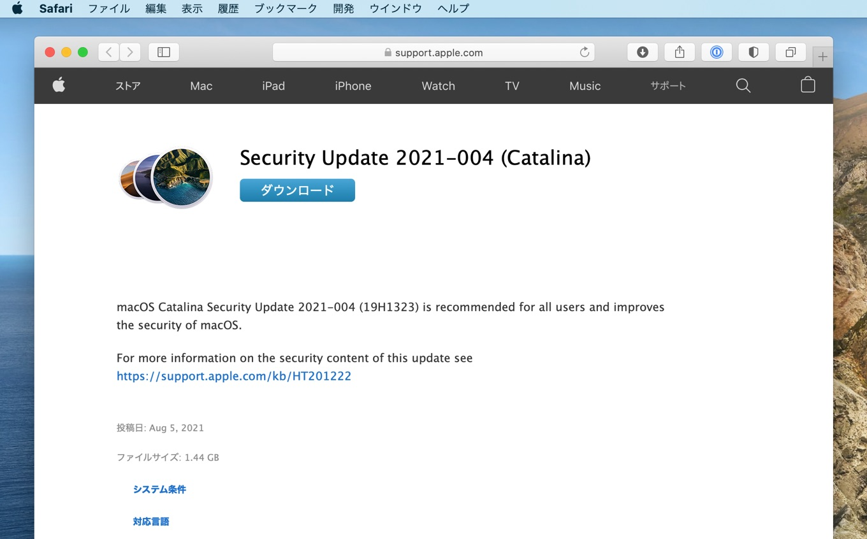 Security Update 2021-004 (Catalina)