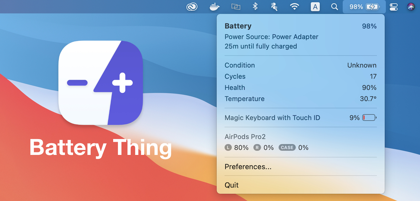 Battery Thing for macOS