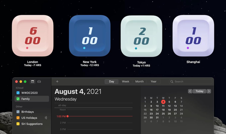 World Clock Desktop Mode