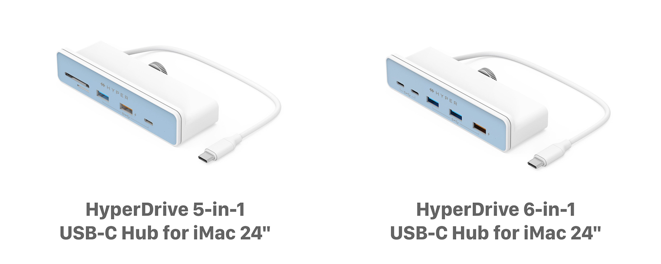 HyperDrive 5-in-1 and 6-in-1 USB-C Hub for iMac