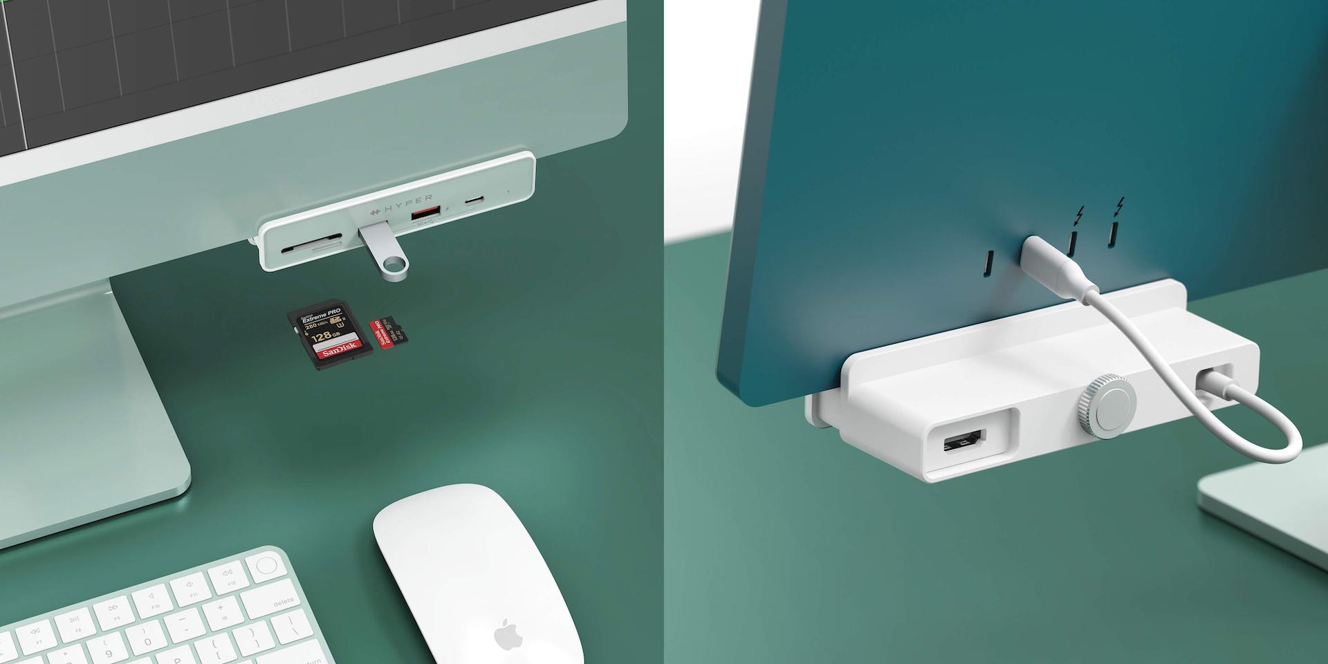 "HyperDrive 6-in-1 USB-C Hub for iMac 24"""