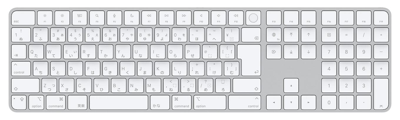 Appleシリコン搭載Mac用Touch ID搭載Magic Keyboard(テンキー付き)- 日本語(JIS)