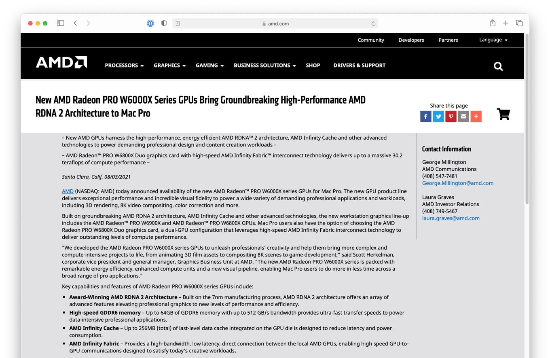 New AMD Radeon PRO W6000X Series GPUs Bring Groundbreaking