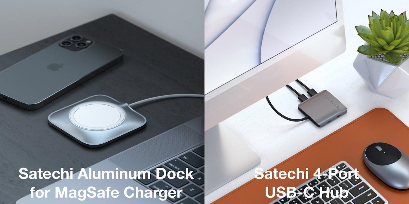 Satechi Aluminum Dock for MagSafe Charger and 4-Port USB-C Hub