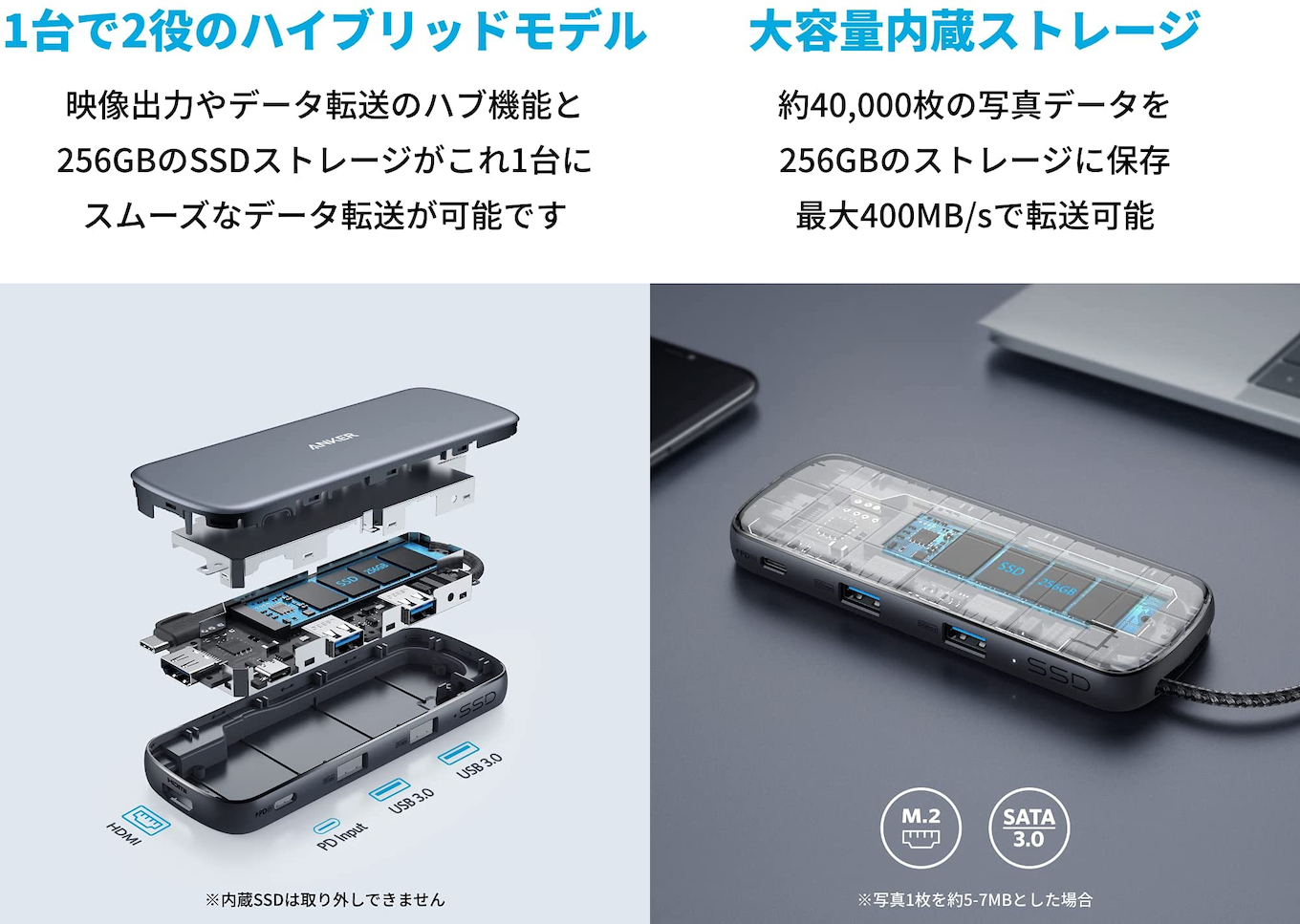 Anker PowerExpand 4-in-1 USB-C SSD ハブ