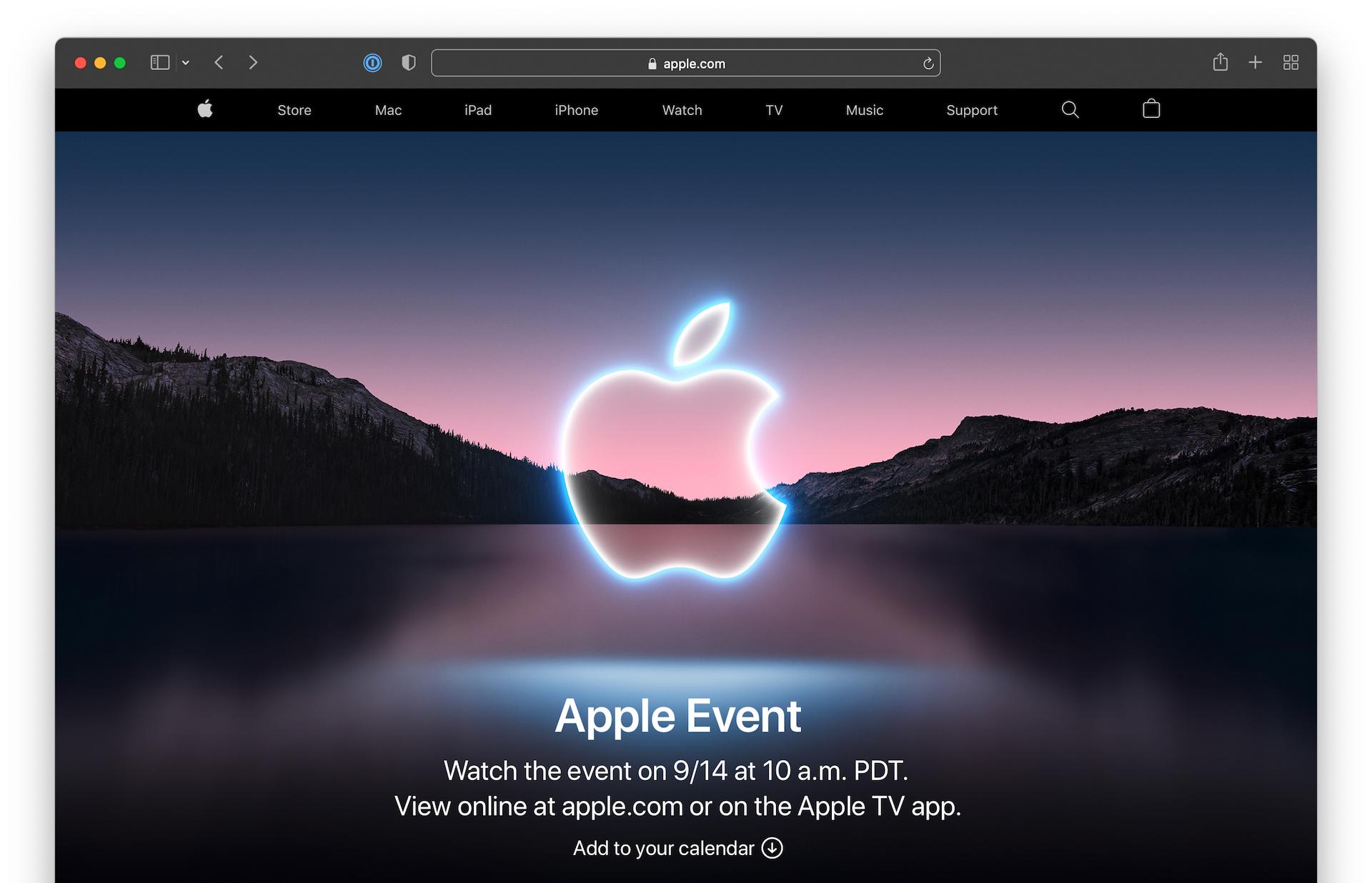 Apple Event September 15, 2021 California streaming.