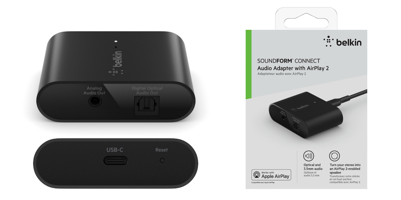 Belkin SOUNDFORM CONNECT AirPlay 2 audio adapter