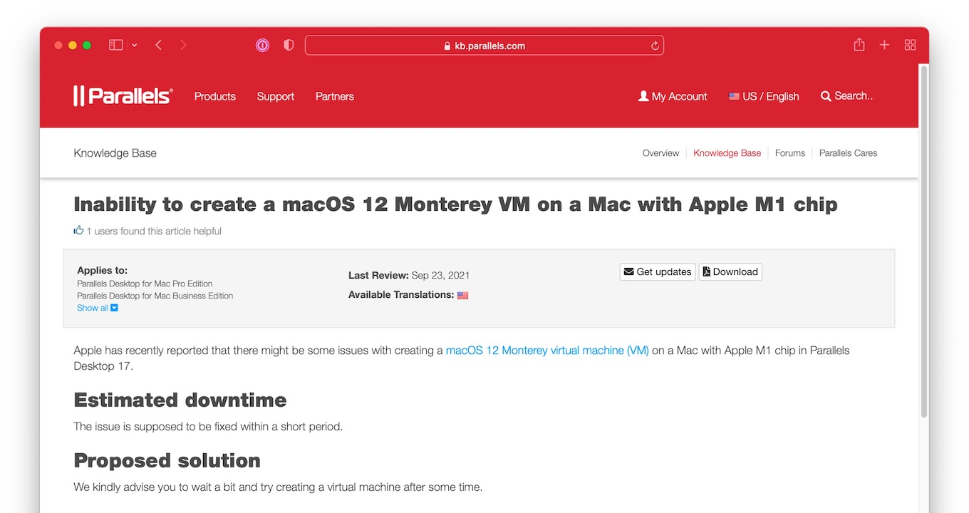 Inability to create a macOS 12 Monterey VM on a Mac with Apple M1 chip