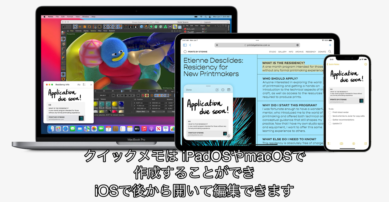 iPadOS15 Quick Note