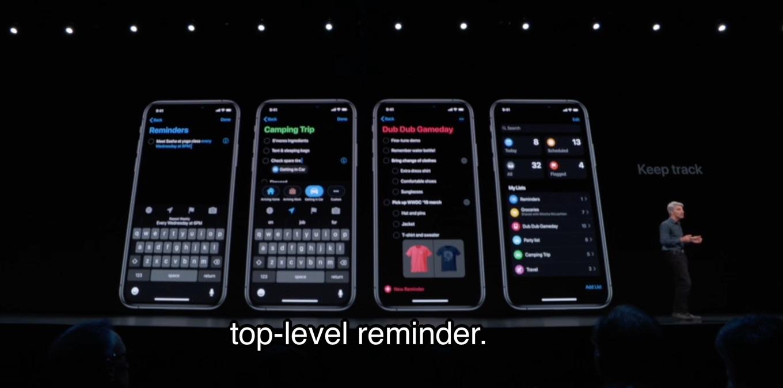 iOS13のリマインダーアプリ