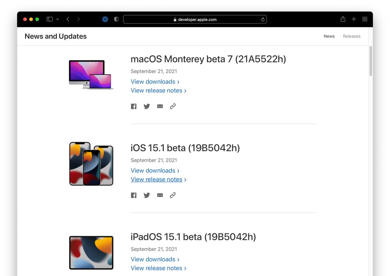 macOS Monterey beta 7 (21A5522h)