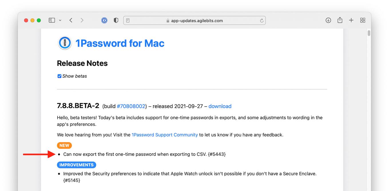 1Password for Mac 7.8.8.BETA-2