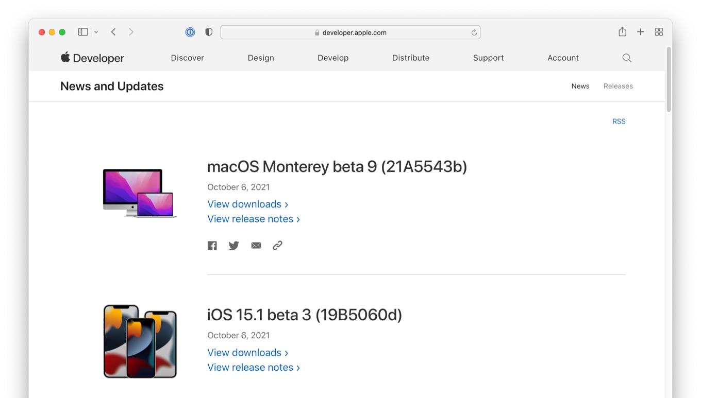 macOS Monterey beta 9 (21A5543b)